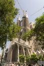 Basilica and Expiatory Church of the Holy Family Barcelona Royalty Free Stock Photo