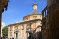 Basilica of the forsaken in valencia spain exterior or de los desamparados city centre with people Royalty Free Stock Image