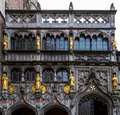 Basilica of the holy blood bruges belgium facade basilius or in Royalty Free Stock Photography