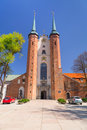 Basilica of the holy trinity in gdansk oliwa on may this archcathedral it longest cistercian church world and Stock Photo