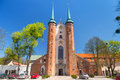 Basilica of the holy trinity in gdansk oliwa on may this archcathedral it longest cistercian church world and Royalty Free Stock Image