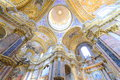 Basilica interior paintings cupola and ceiling of a beautiful in rome Stock Photos