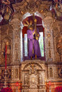 Basilica jesus statue cross church el salvador seville spain with of iglesia de andalusia built in the s second Stock Photo