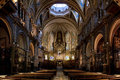 Basilica of Montserrat interior view Royalty Free Stock Image