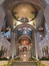 Basilica of the National Shrine of the Immaculate Conception Interior Royalty Free Stock Photo