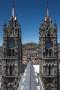 Basilica of the national vow in quito ecuador is a roman catholic church located historic center it is largest neo Stock Images