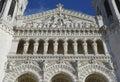 The Basilica of Notre-Dame de Fourviere Facade in Lyon Royalty Free Stock Photo