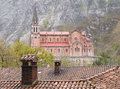 Basilica of our lady of battles covadonga asturias spain beautiful church Royalty Free Stock Photos