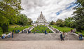 The basilica of sacré cœur in paris shot Royalty Free Stock Photography