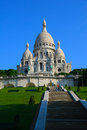 Basilica sacre coeur in the morning at montmartre paris france Stock Photography