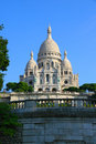 Basilica sacre coeur morning in paris france Stock Image