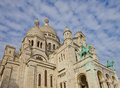 Basilica sacred heart basilique du sacre c ur montmartre hill paris france Stock Photography