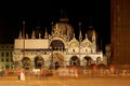 Basilica of Saint Mark by night Stock Photos