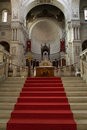 The basilica of saint martin tours interior france Royalty Free Stock Photography