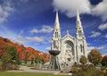 Basilica of Sainte-Anne-de-Beauprein autumn Royalty Free Stock Photo