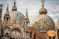 The Basilica of San Marco in St. Marks square in Venice, Italy Royalty Free Stock Photo