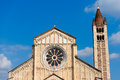 Basilica of san zeno verona italy facade and bell tower the x xi century in is considered one the masterpieces romanesque Stock Photography