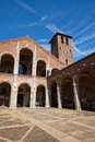Basilica of Sant Ambrogio (circa 1080). Milan, Italy Royalty Free Stock Photo