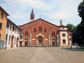 Basilica of sant eustorgio a church in milan italy Royalty Free Stock Photos