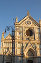 The Basilica of Santa Croce Basilica of the Holy Cross Franciscan Church in Florence Royalty Free Stock Photo