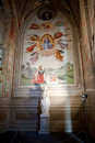 Basilica santa croce in florence frescoes the baroncelli chapel Royalty Free Stock Photo