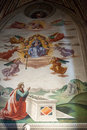 Basilica santa croce in florence frescoes the baroncelli chapel Stock Image