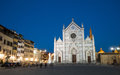 Basilica Santa Croce in Florence At Night Royalty Free Stock Photo