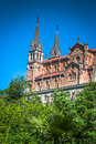 Basilica of Santa Maria, Covadonga, Asturias, Spain Royalty Free Stock Photo