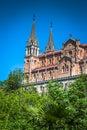 Basilica of Santa Maria, Covadonga, Asturias, Spain Royalty Free Stock Photo