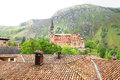 Basilica of Santa Maria in Covadonga. Royalty Free Stock Photo
