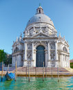 Basilica santa maria della salute in venice italy on embankment of canal grande Stock Photos