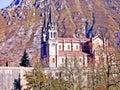 Basilica of Santa Maria la Real de Covadonga Royalty Free Stock Photo