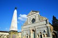 Basilica of santa maria novella florence italy and a obelisk in front it is is inscribed on the unesco world heritage list Stock Image