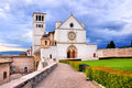 Basilica of st francis view the assisi italy Royalty Free Stock Photography