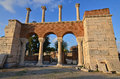 Basilica of st john evening falls on the ruins s where he was buried at ephesus turkey Stock Image