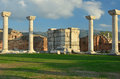 Basilica of st john ionic columns in the ruins s close to where he was buried in ephesus turkey Stock Photos