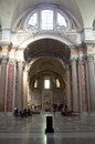 The Basilica of St. Mary of the Angels and the Martyrs in Rome Stock Photos
