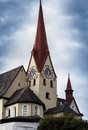 Basilika rankweil österreich the basilica perched on a hill above the town Stock Photo