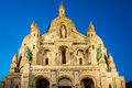 Basilique du Sacre Coeur in Paris France Royalty Free Stock Photo