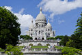 Basilique du sacre coeur paris france the basilica of located in montmartre the highest point in Royalty Free Stock Image