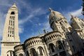 Basilique of Sacre Coeur Stock Photography