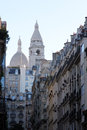Basilique of sacre coeur paris montmartre france Royalty Free Stock Image