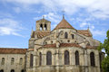 Basilique of st mary magdalene in vezelay abbey burgundy france view Stock Photography
