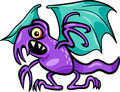 Basilisk monster cartoon illustration Royalty Free Stock Images