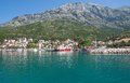 Baska voda makarska riviera dalmatia croatia view of at in croatian adriatic sea Royalty Free Stock Photo