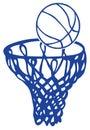 Basket Arkivbild