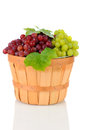 Basket of Assorted Grapes Stock Images