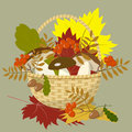 Basket of autumn gifts Royalty Free Stock Photo