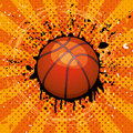 Basket ball grunge illustration of Stock Images
