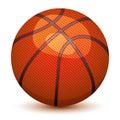 Basket ball illustration of isolated on white Stock Photography